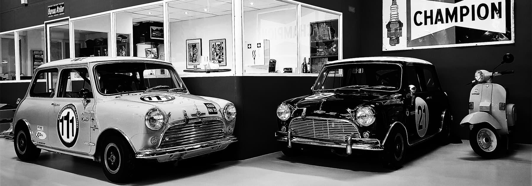 Garage des Damiers spécialiste de voitures anglaises et voiture de collection