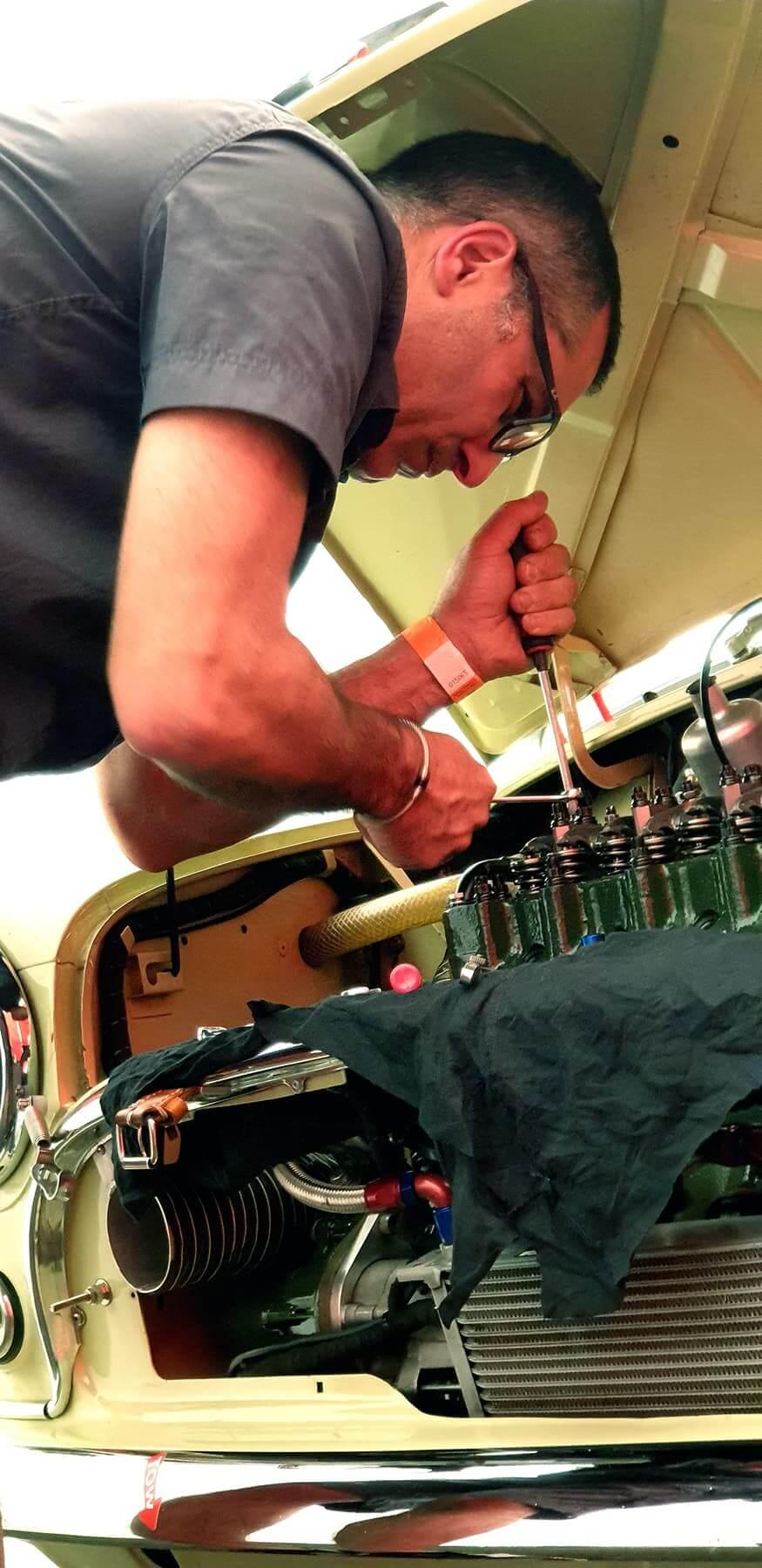 Toutes les préparations moteur, boîte de vitesse et châssis sont réalisées au Garage des Damiers