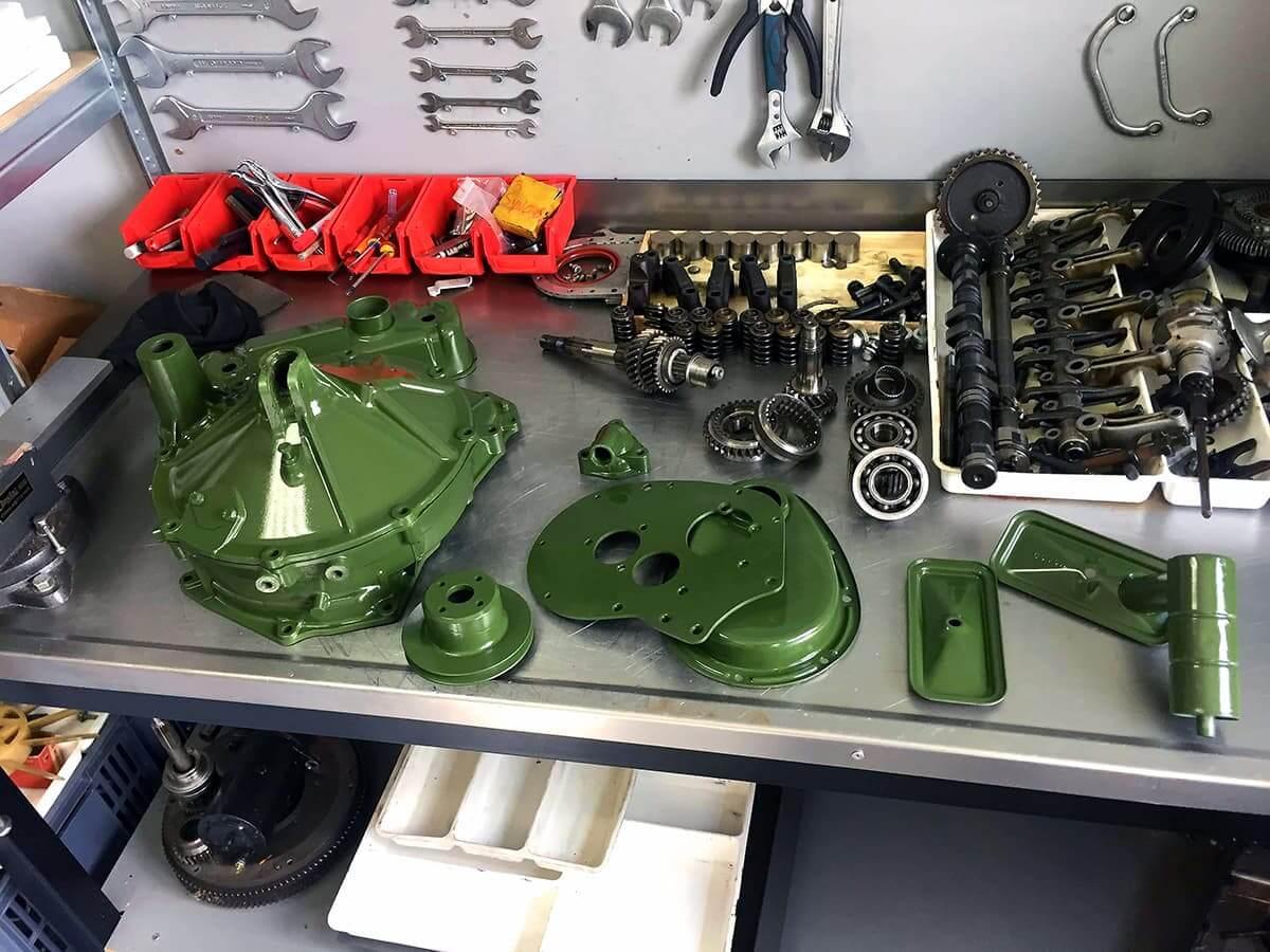 Restauration de voiture de collection et réfection moteur avec les options d'origines