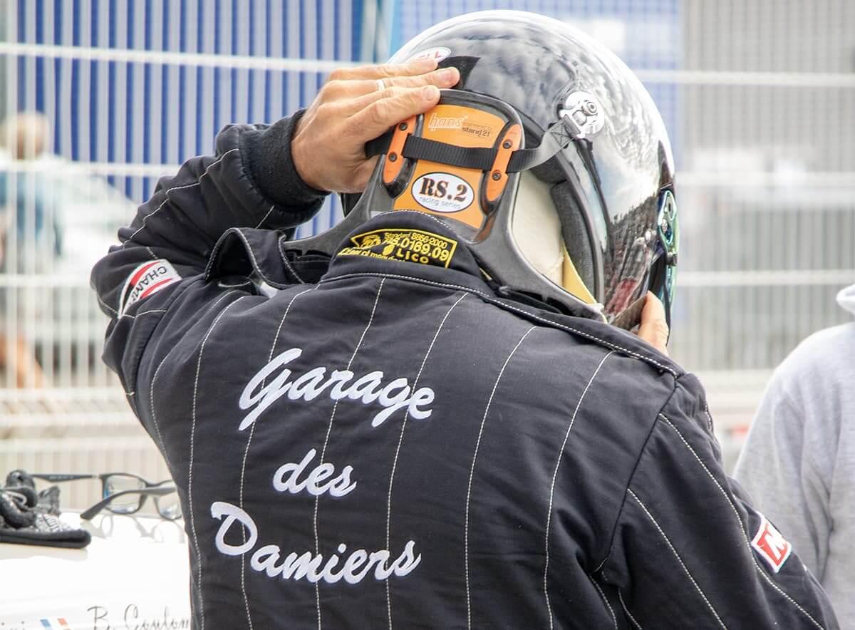 Le Garage des Damiers en préparation pour la course - Le Mans 2018 Historic Tour