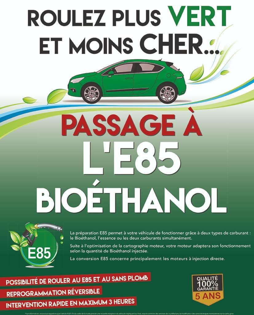 La préparation E85 permet à votre véhicule de fonctionner grâce à deux types de carburant