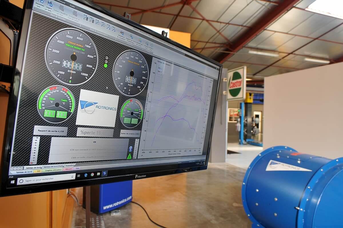 Test de puissance de votre véhicule sur le banc de puissance Rotronics
