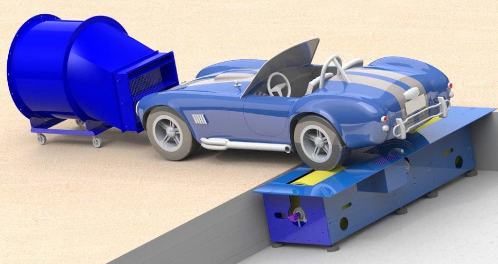 Illustration du banc de puissance Rotronics - Garage des Damiers