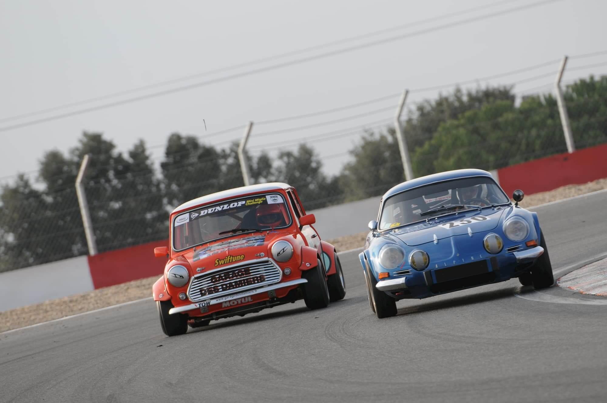 circuit ledenon - course automobile de voitures anciennes
