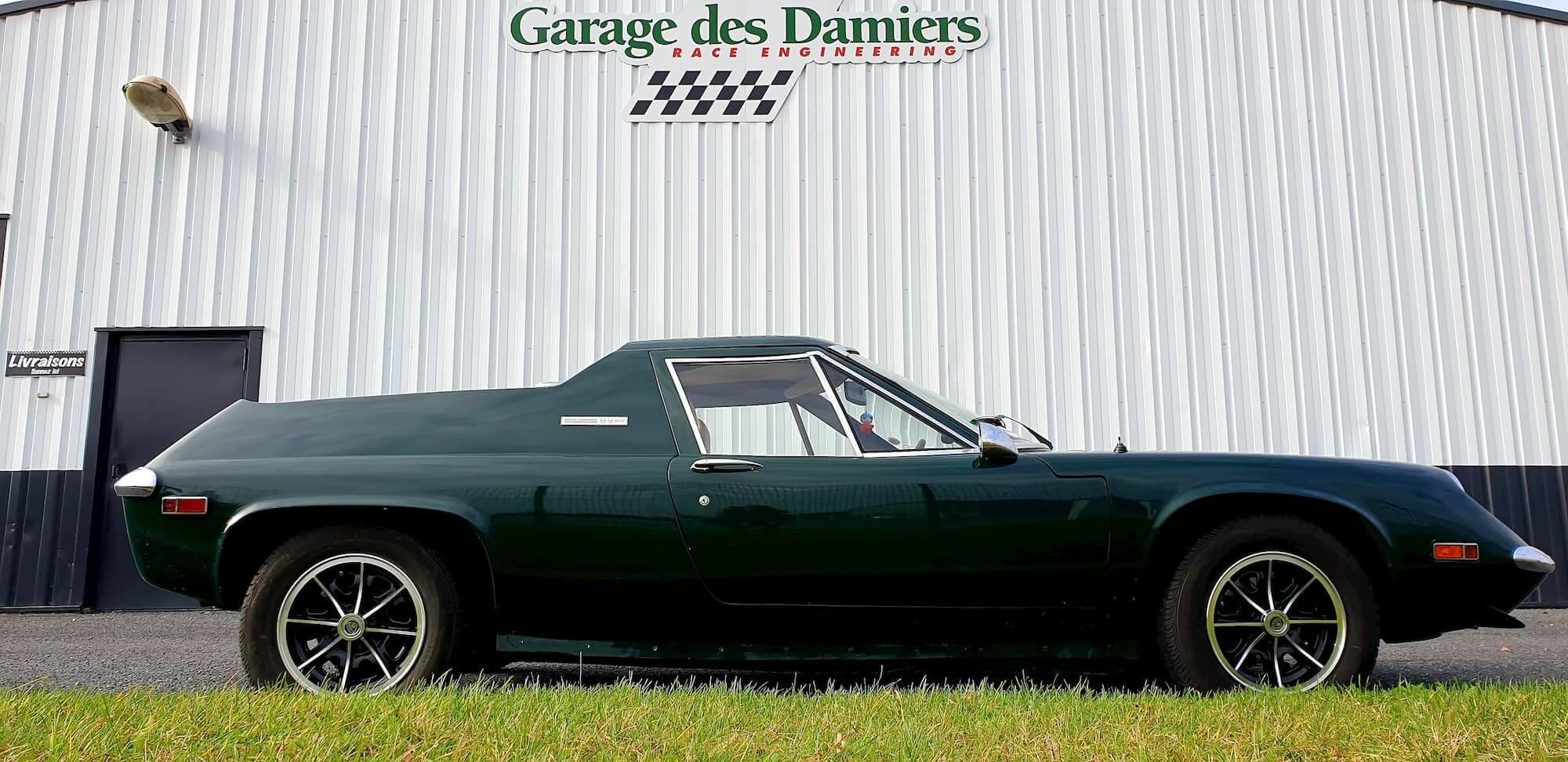 Garage des damiers - Atelier mécanique de voitures anciennes - Lotus Europa