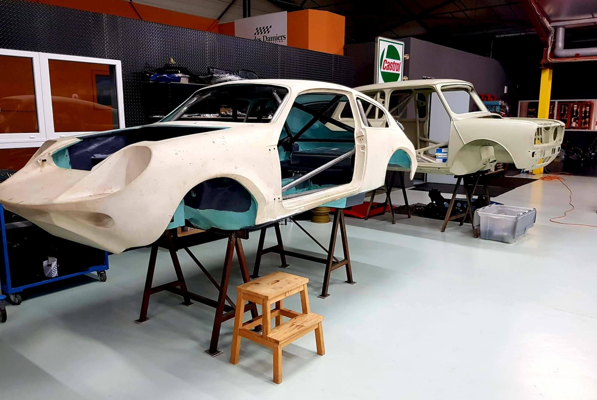 custom cage - le mans 66 - préparation voiture rallye