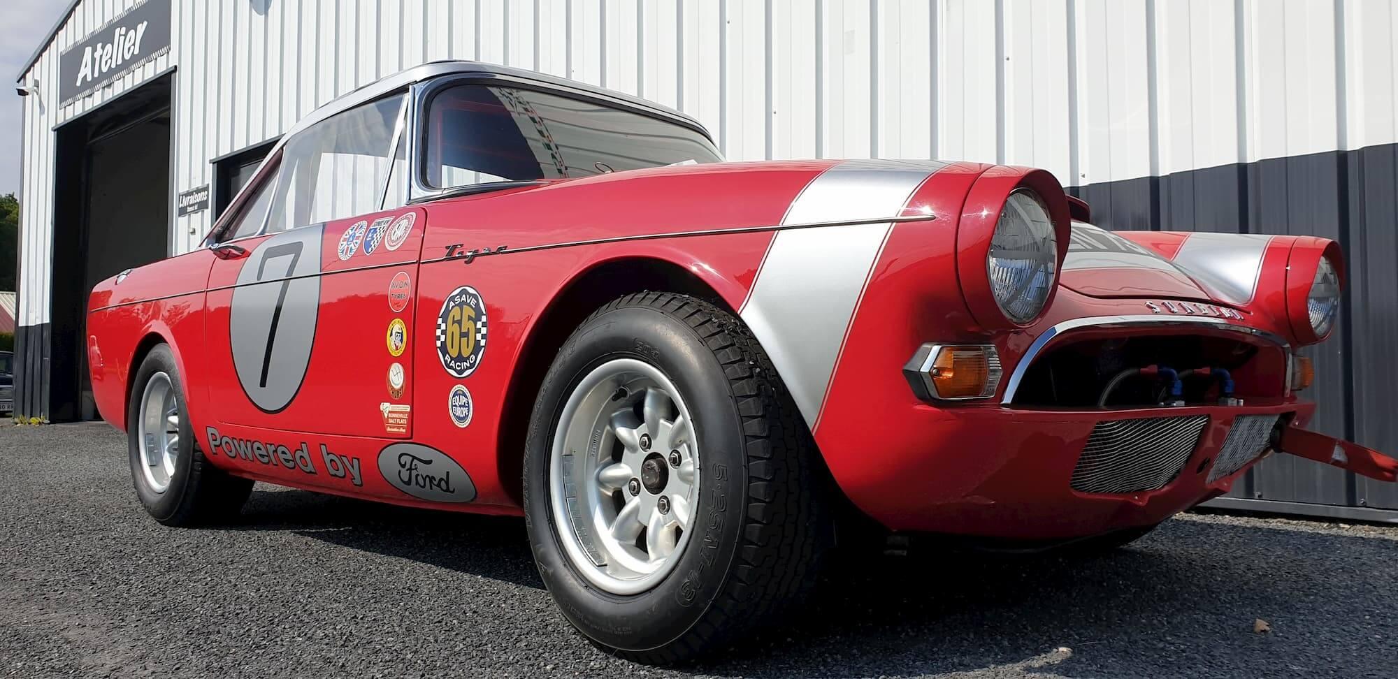 Sunbeam Tiger - Ford V8 - FIA - Race engineering - ASAVE 65 - Préparation et réglage chassis old british cars