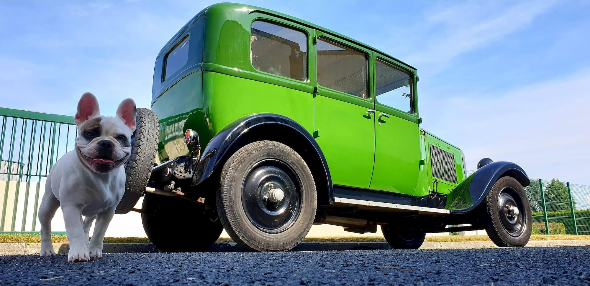 Atelier mécanique de voiture ancienne - Citröen C4 vintage au Garage des Damiers