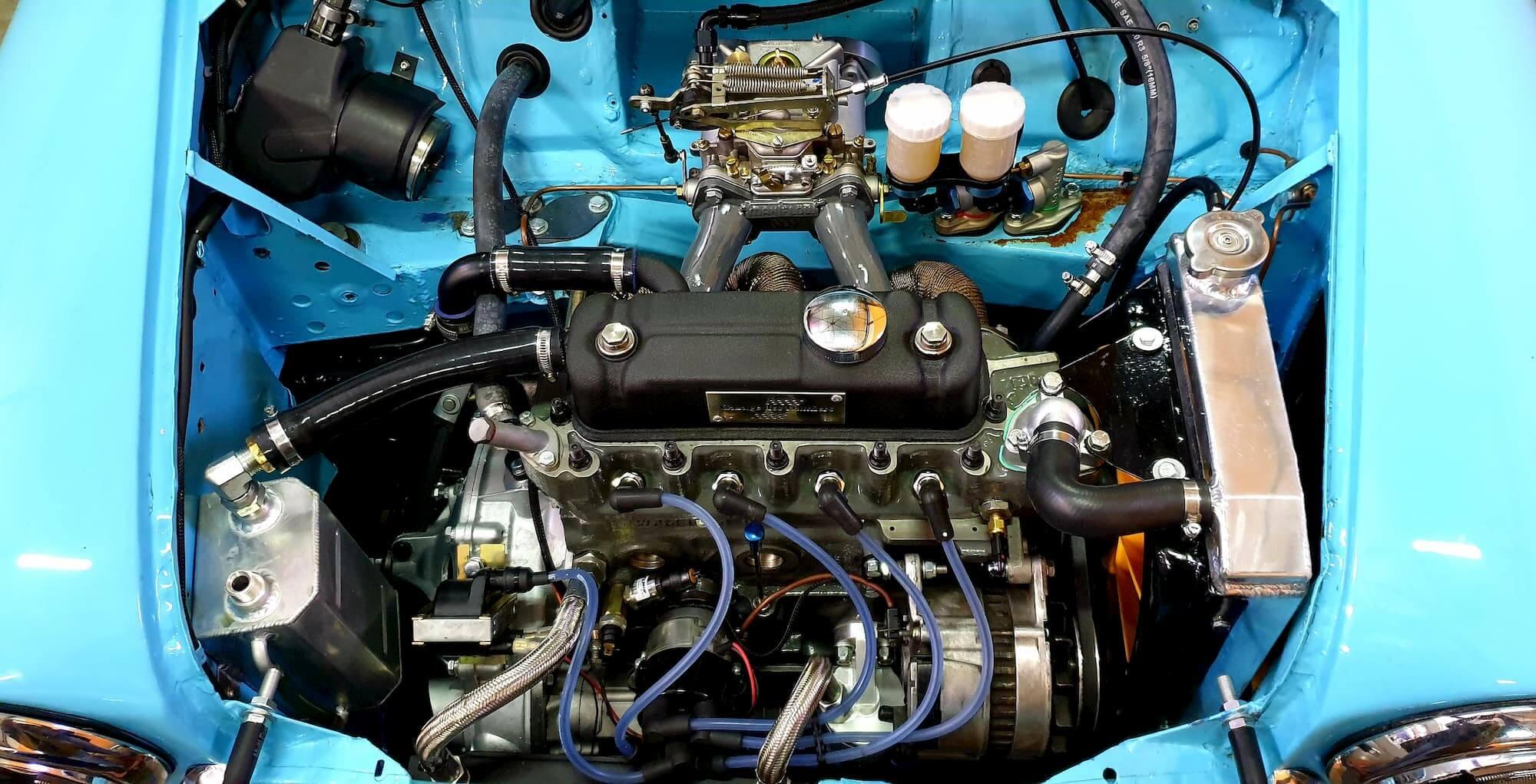 Moteur de la Mini Austin - Banc de puissance rotronics - Vintage car