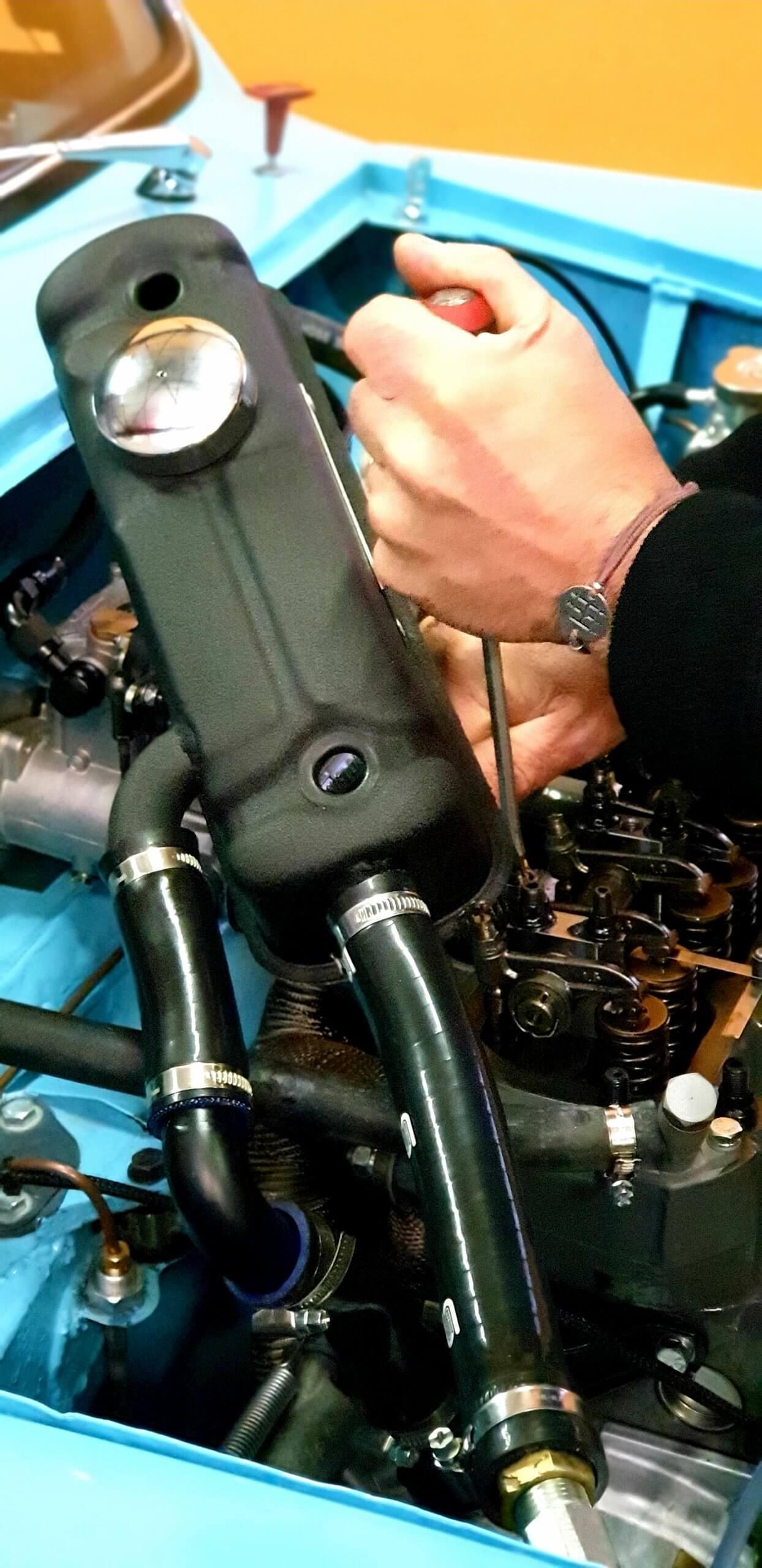 Austin mini 1293cc sur le banc de puissance - KAD - ASAVE75