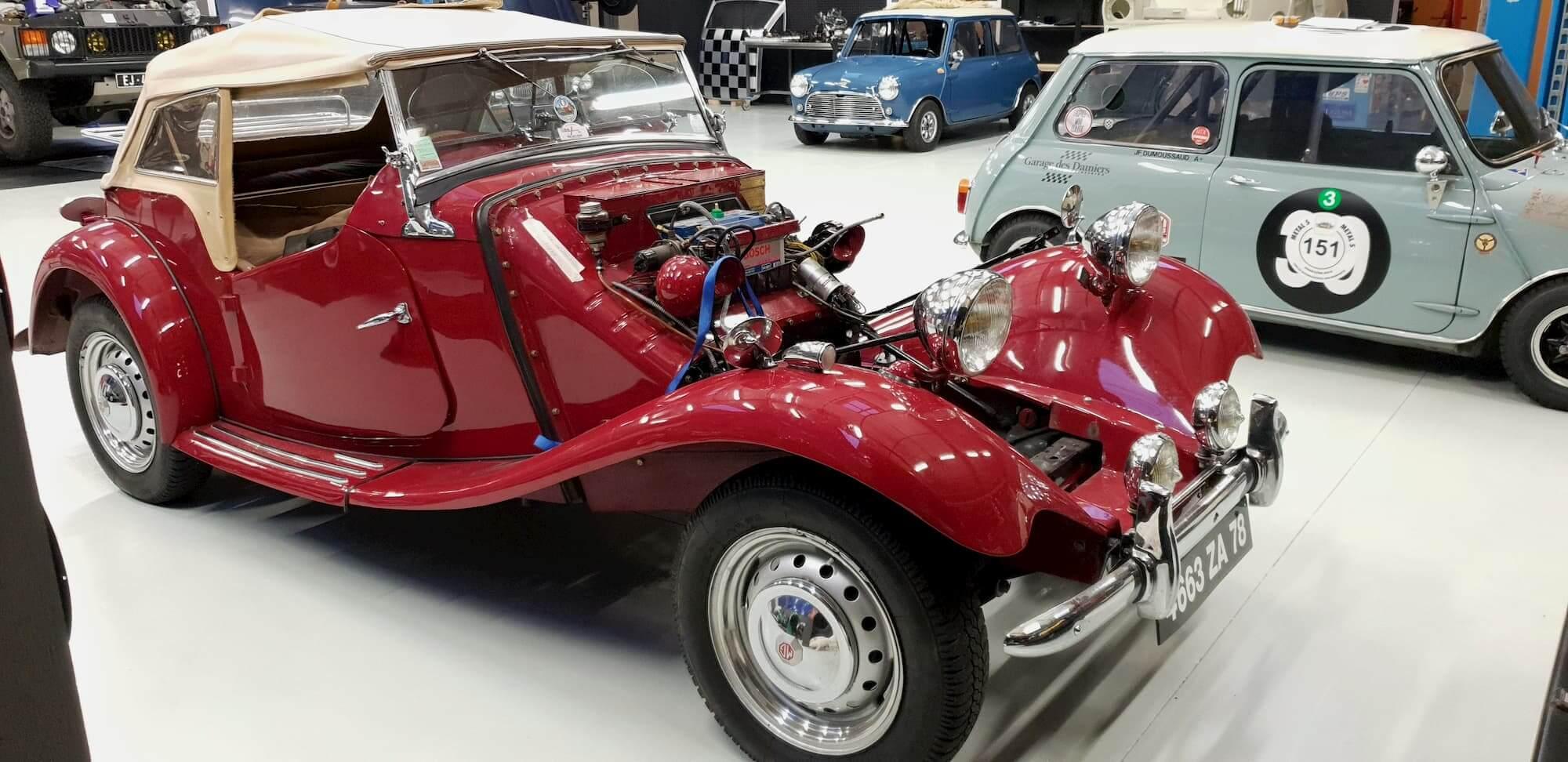 Réfection moteur de la MG au Garage des Damiers - voiture ancienne anglaise