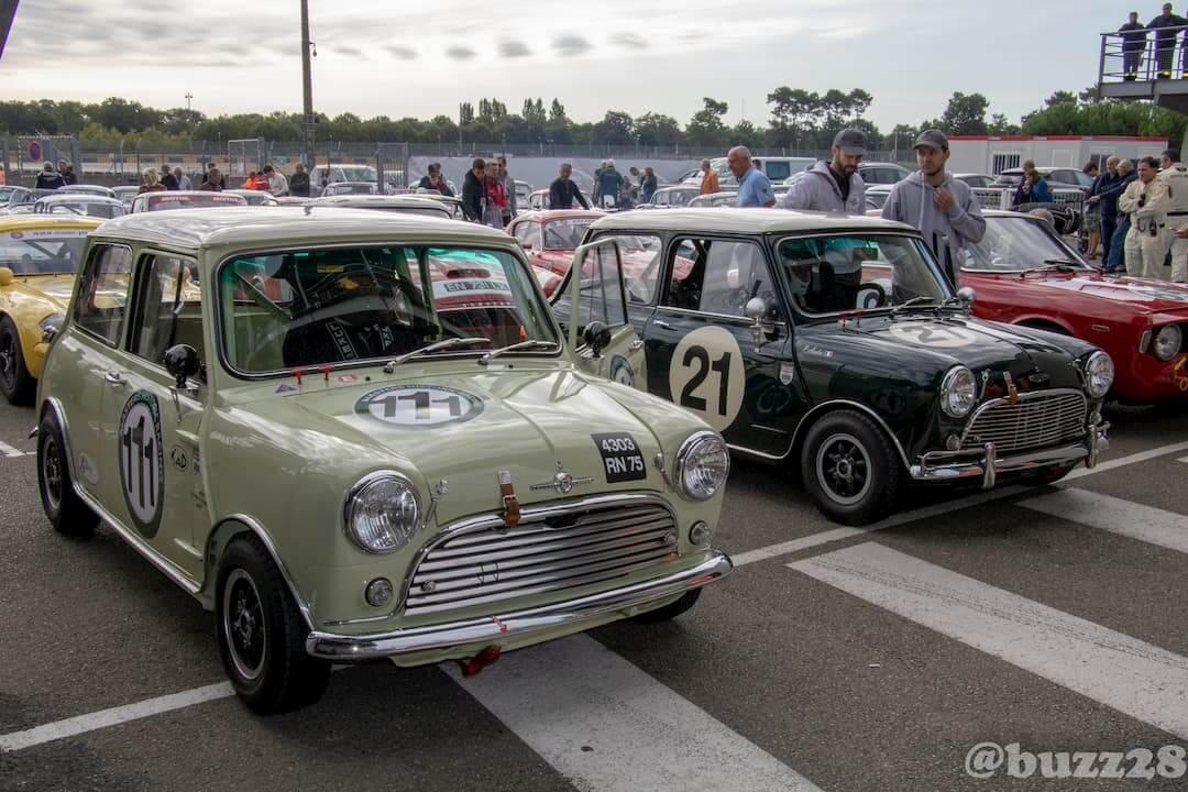 Mini Austin voiture de course ancienne - Le Mans 2018