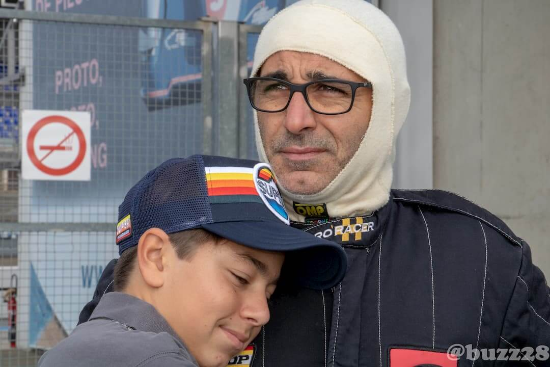 Grégory Carini et son fils - Le Mans 2018 - Car racing mini austin