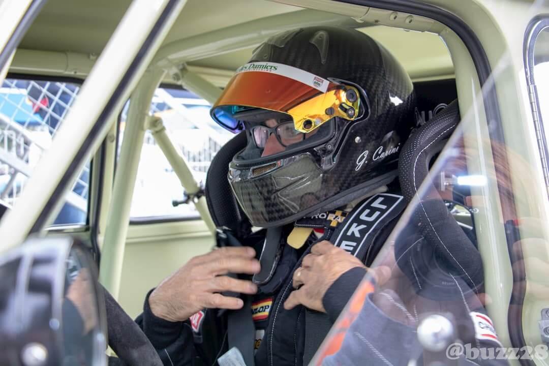Grégory Carini en pleine concentration- born to win - Historic Tour - Le Mans