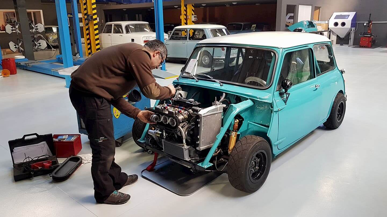 Mise au point culasse Arden sur la Mini Austin - préparation moteur