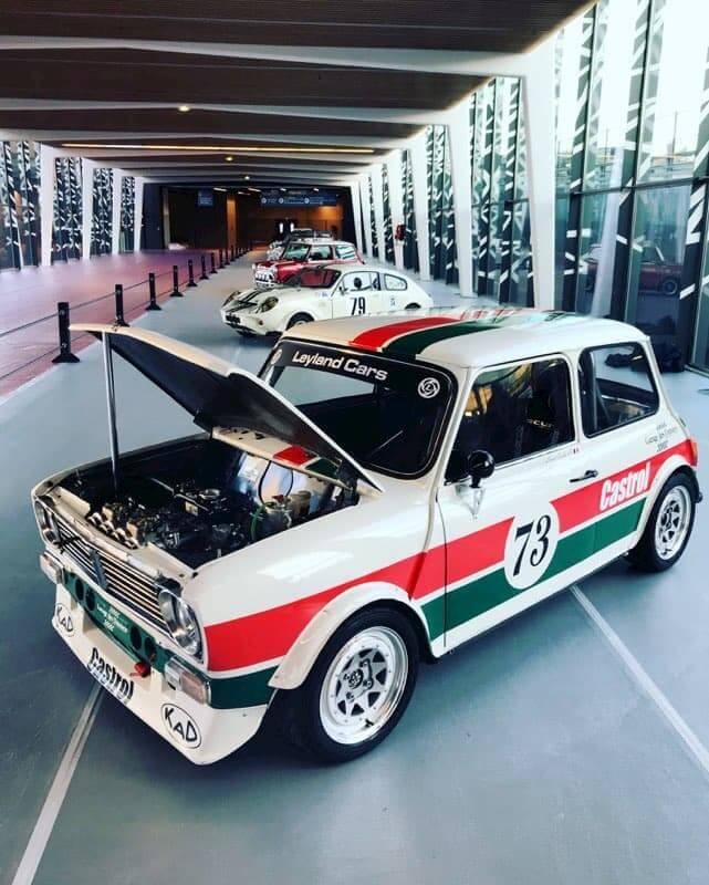 60 ans mini austin au Garage des Damiers à Dreux - Retromobile 2019