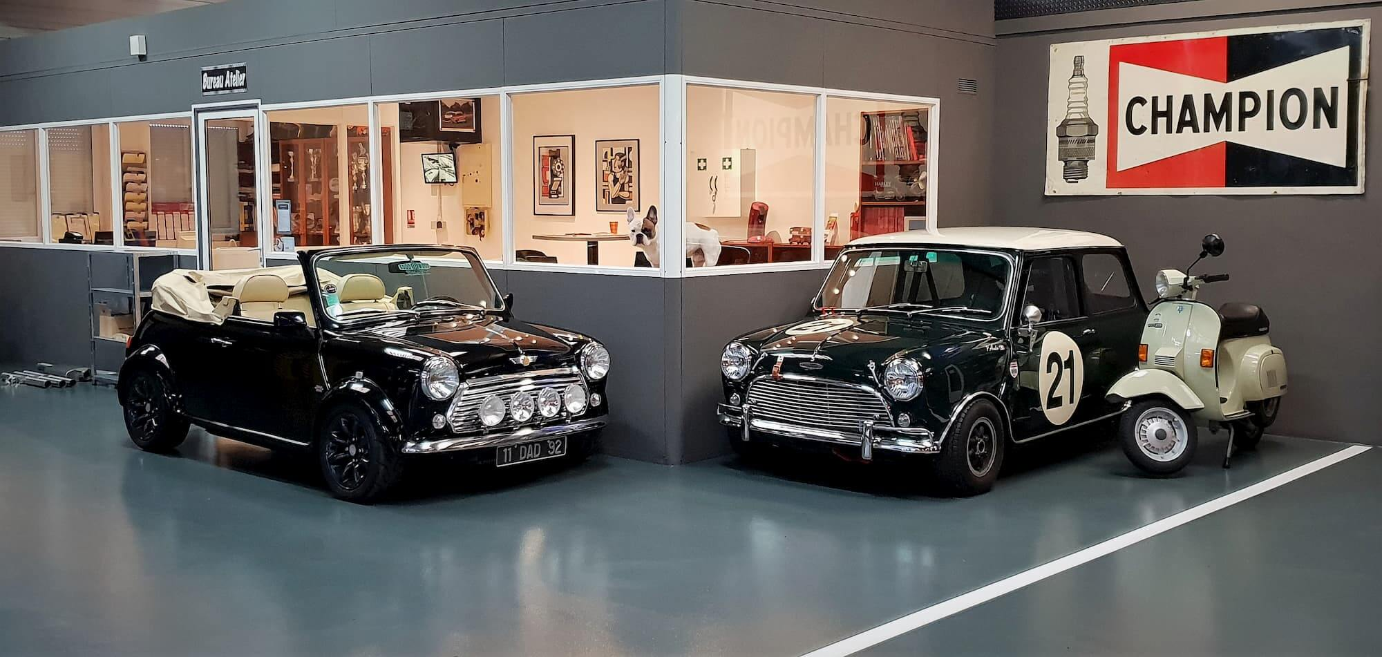Vintage cars au Garage des Damiers à Dreux - Restauration automobile Mini Austin