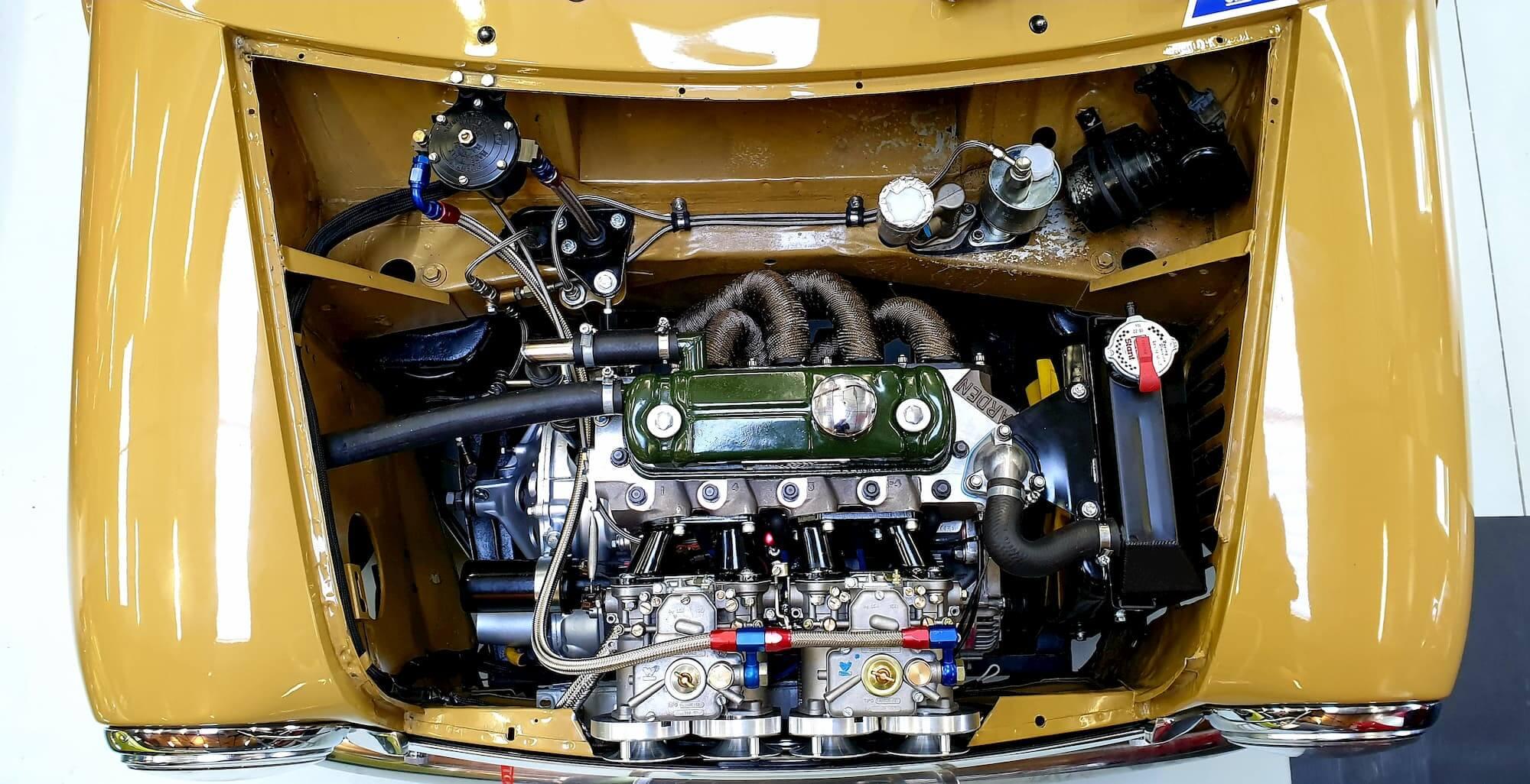 Moteur Austin Mini 1293cc MK2 - Culasse Arden - Twin weber